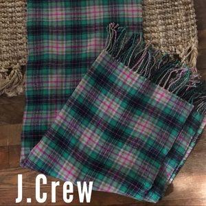 J.Crew Plaid Blanket Scarf